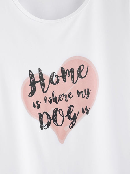 "T-shirt ""Home is where my dog is"""