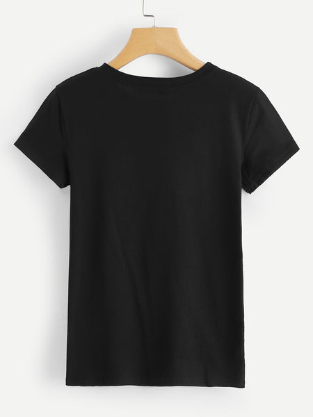 T-shirt Estampado Black Colour