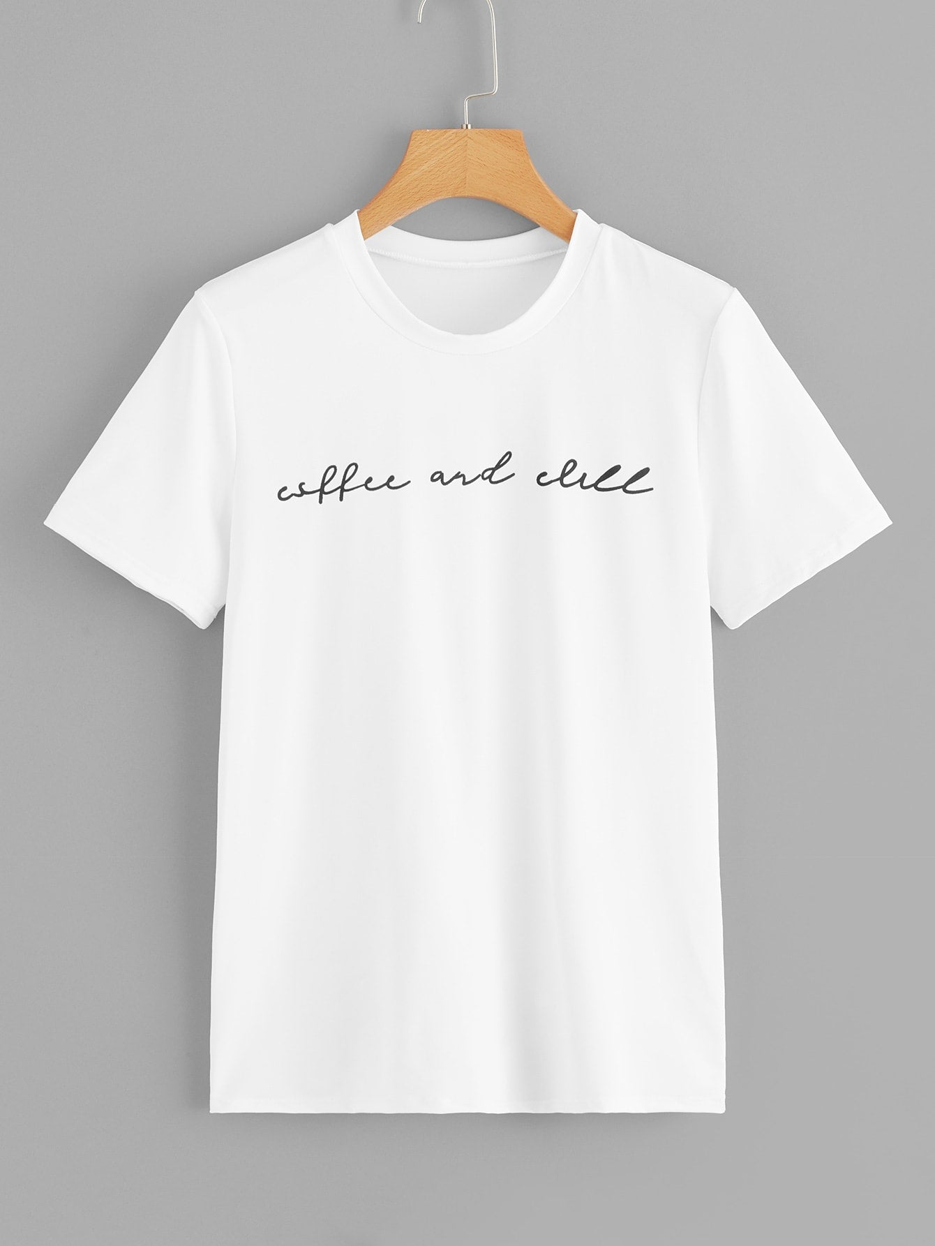 "T-shirt ""Coffee and chill"""