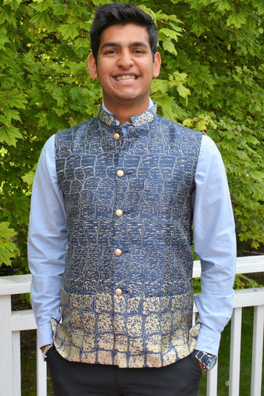 22 Creations Men's Printed Modi/Nehru Jacket Vest (various)