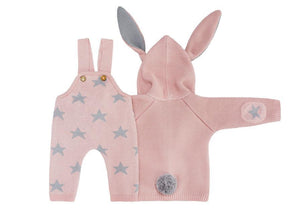 Set of Sweater Rabbit Shorts Stars