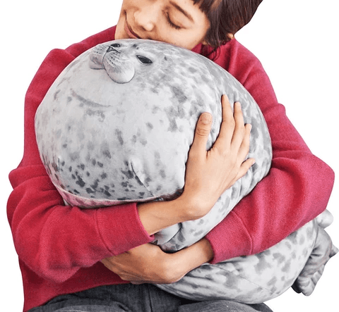 Fluffy Plush Seal Pillow