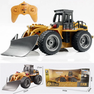[Christmas Sales,50% OFF]2019 Newest 6 CHANNEL RC BULLDOZER.Best gifts for kids.