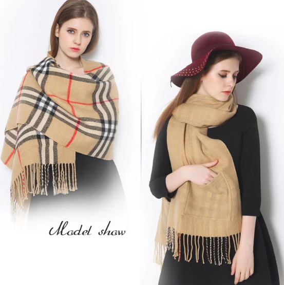 Cashmere Soft Pocket Shawl