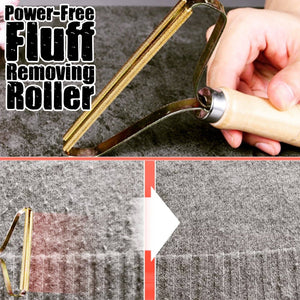 Power-Free Fluff Removing Roller