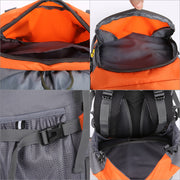 60L Waterproof Backpack with Rain Cover