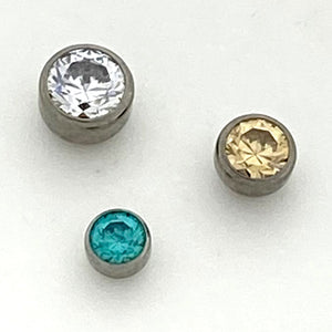 Bezel Set Gem Threadless End