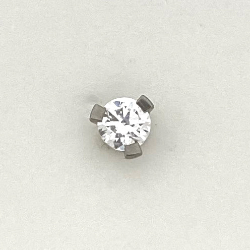 Prong Set Gem Threaded End