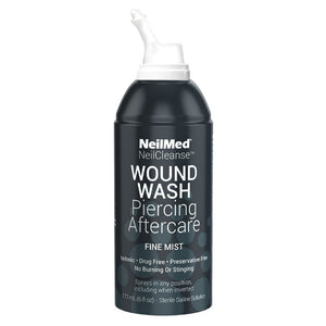 NeilMed Piercing Aftercare | Sterile Saline Wound Wash