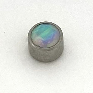 Bezel Set Faceted Opal Threaded End