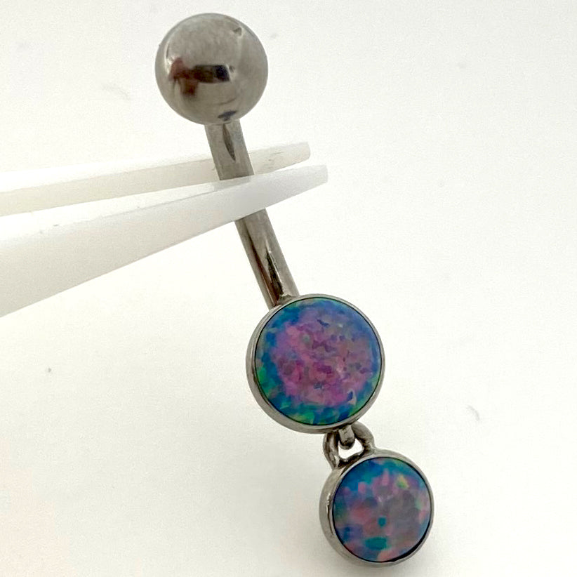 Opal Dangle Navel Curve