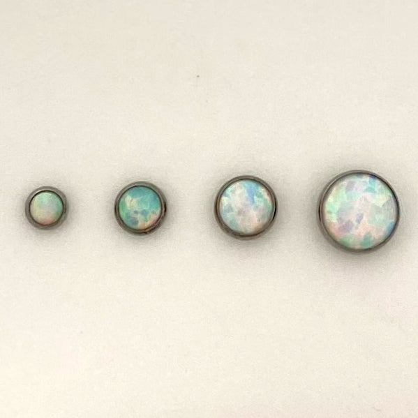 Opal Cabochon Threadless End