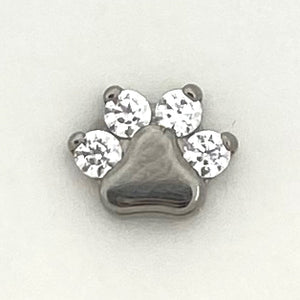 Paw Print Threaded End
