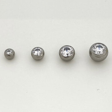 Gem Set Ball Threaded End