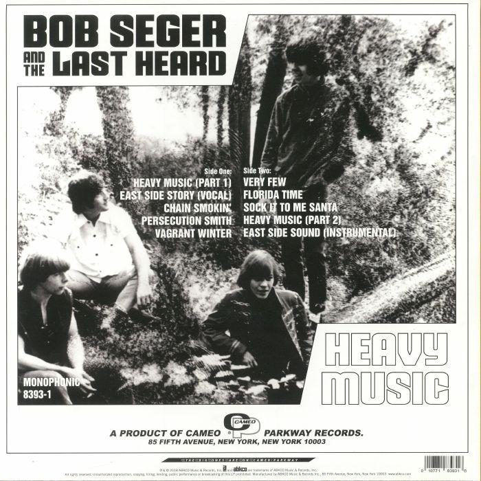 Bob Seger And The Last Heard ‎| Heavy Music: The Complete Cameo Recordings 1966-1967 - Hex Record Shop