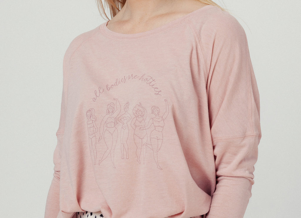 ALL BODIES ARE HOTTIES LONG SLEEVE TEE