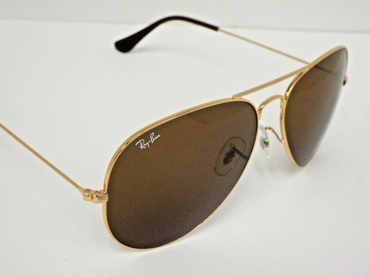 Ray-Ban RB 3025 001/33 Gold Brown Classic B-15 Aviator 62 mm Sunglasses