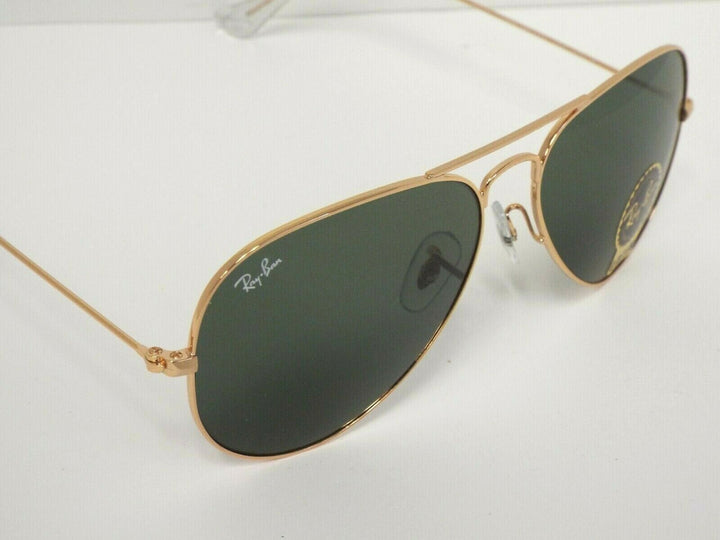 Ray-Ban RB 3025 L0205 Gold Green Classic G-15 Aviator 58 mm Sunglasses
