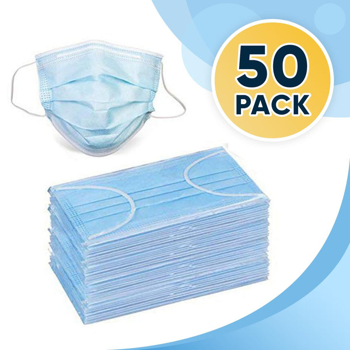 3 PLY Disposable Protective Masks ( Non Medical ) Pack of 50
