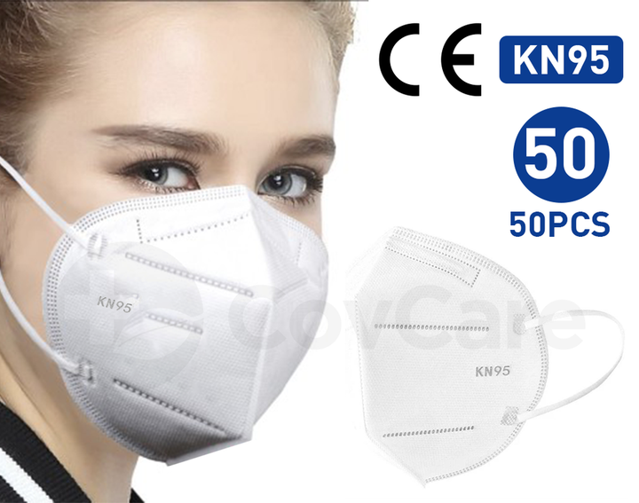 KN95 Protective Face Mask 50PC ( NON MEDICAL ) 95% FILTRATION