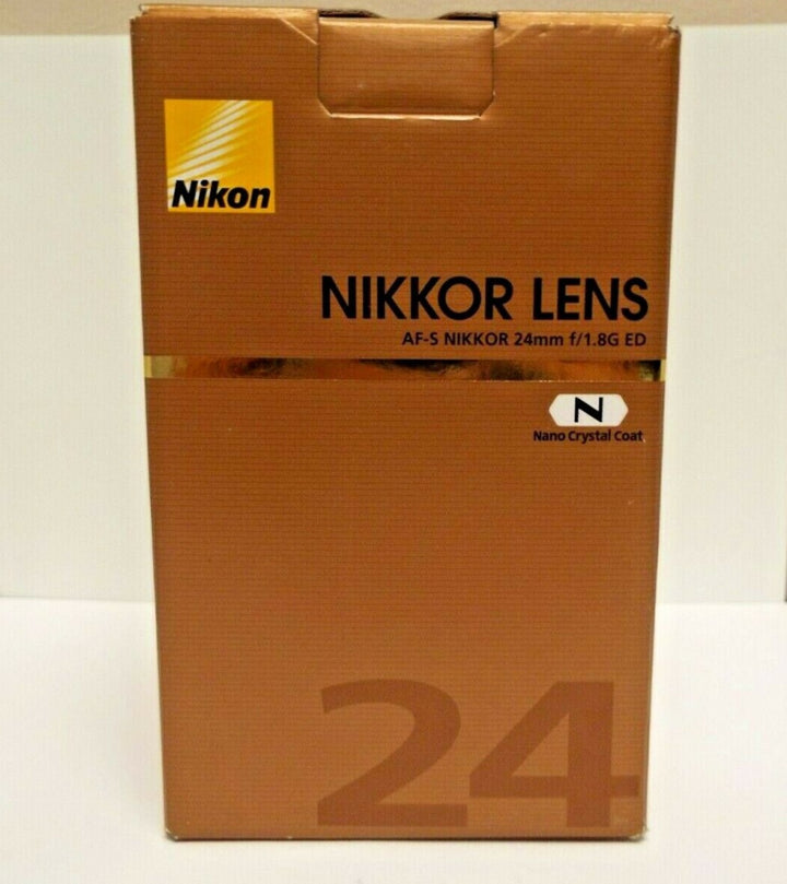 New Open-Box Nikon Nikkor Lens AF-S 24MM f/1.8G ED