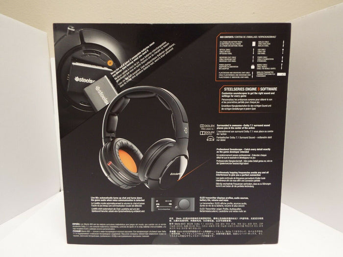 NEW Open-Box SteelSeries Siberia 800 Gaming Dolby 7.1 Headset - Black (61302)