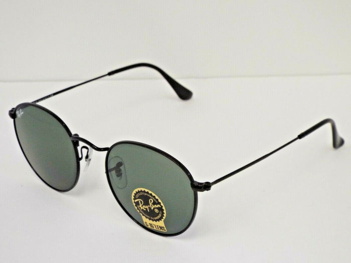 Ray-Ban RB 3447 002 Black Green Classic G-15 Round 50 mm Sunglasses