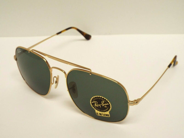 Ray-Ban RB 3561 001 GENERAL Gold Green Classic G-15 Sunglasses