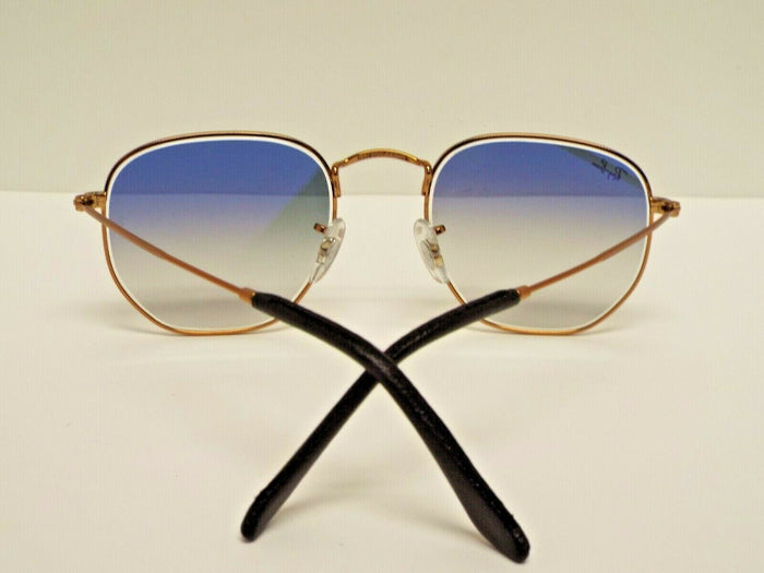 Ray-Ban RB3548N 9035/3F Hexagonal Flat Copper-Bronze Blue Gradient Sunglasses