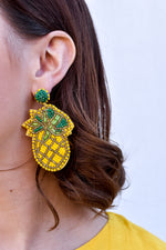 Beaded Pineapple Statement Earring