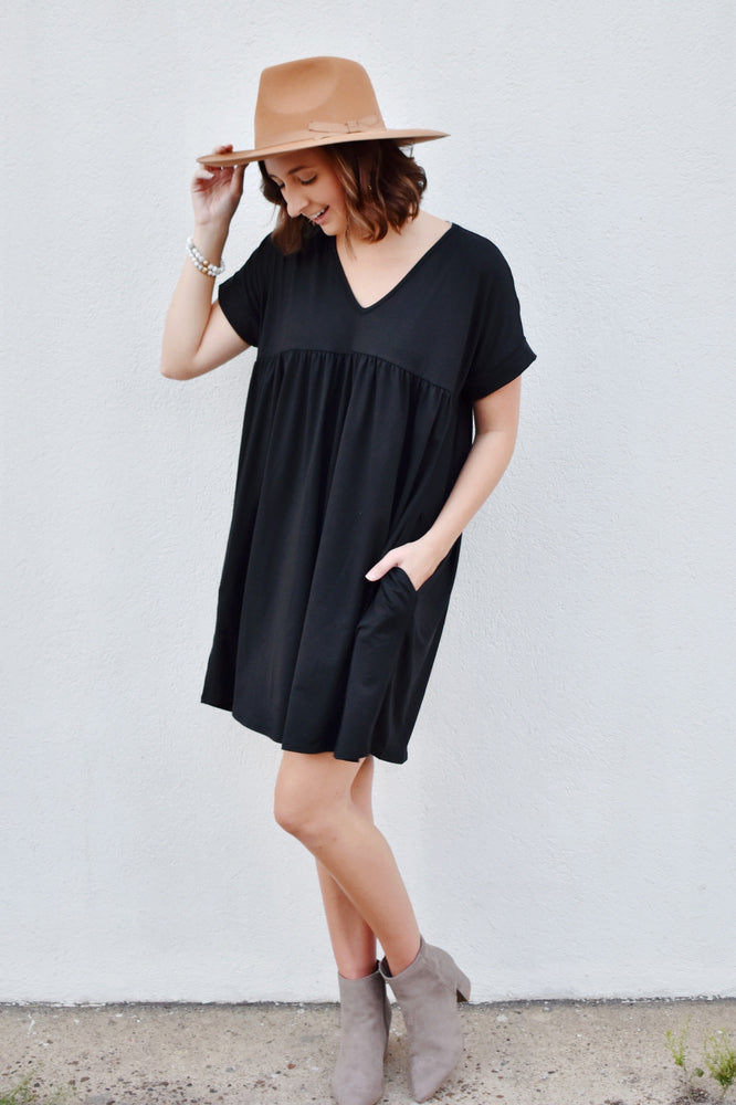 Black Babydoll T-Shirt Dress
