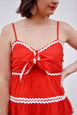 Red Ric Rac Tiered Cami Top