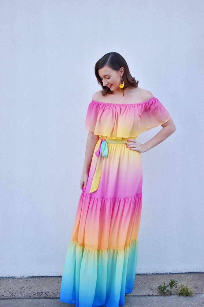 Multi Color Ombré Maxi
