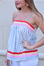 Dottie Blue Striped Top