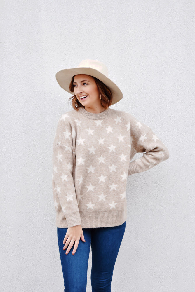 Beige Star Sweater