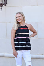 Dottie Black Peplum Top