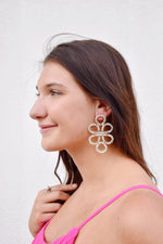 Mint Infinity Knot Seed Bead Earrings