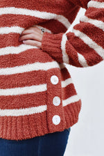Striped Button Side Sweater