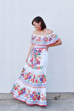 Multi Color Floral Maxi Dress