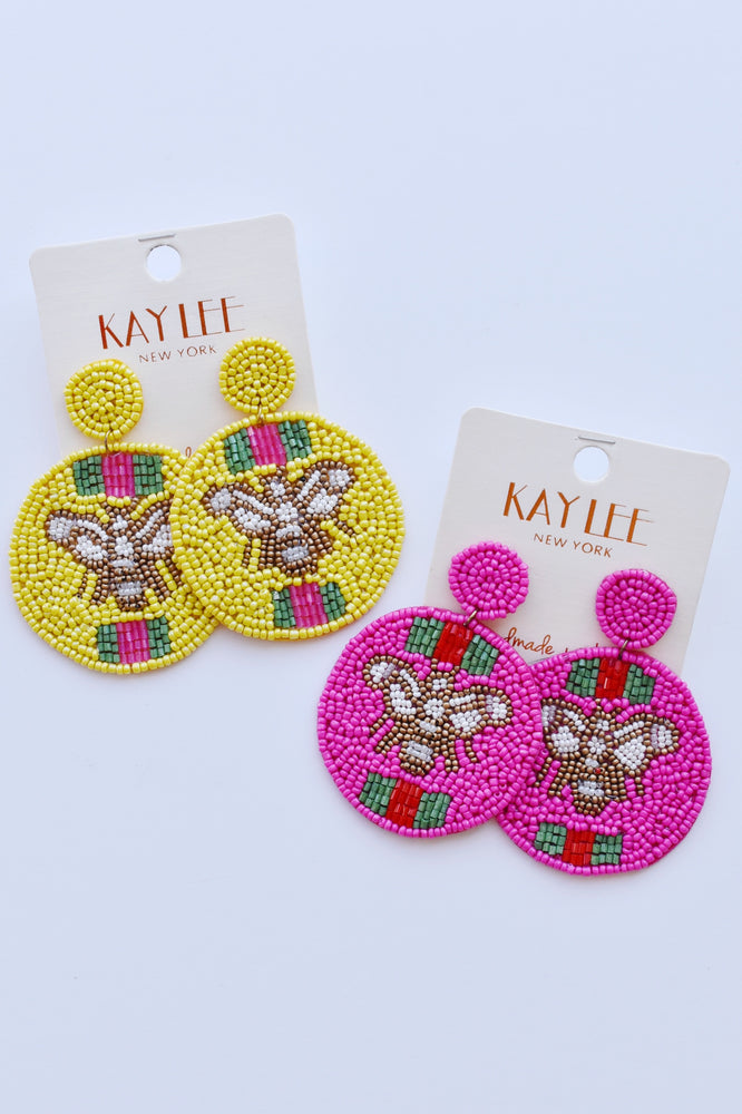 Queen Bee Beaded Earrings