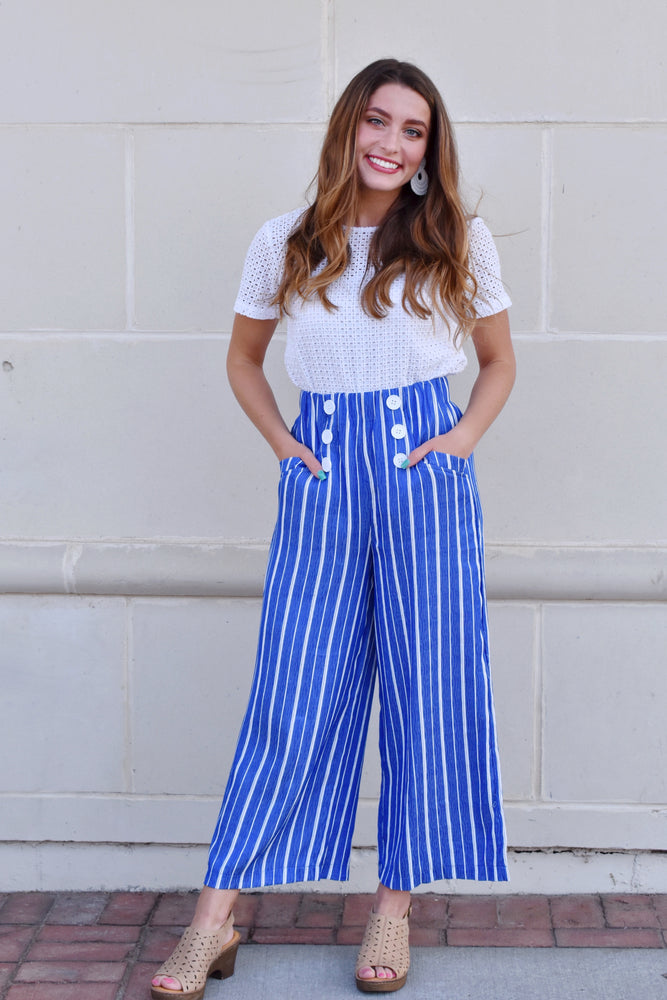 Nantucket Striped High Waist Pants