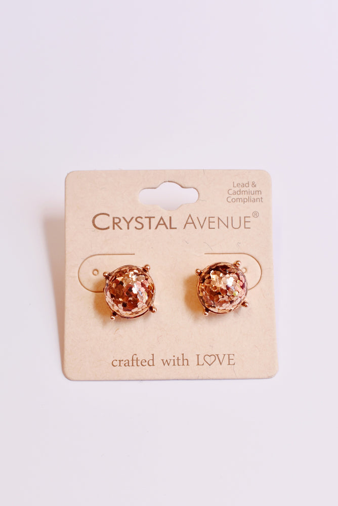 Confetti Sparkle Gold Earrings