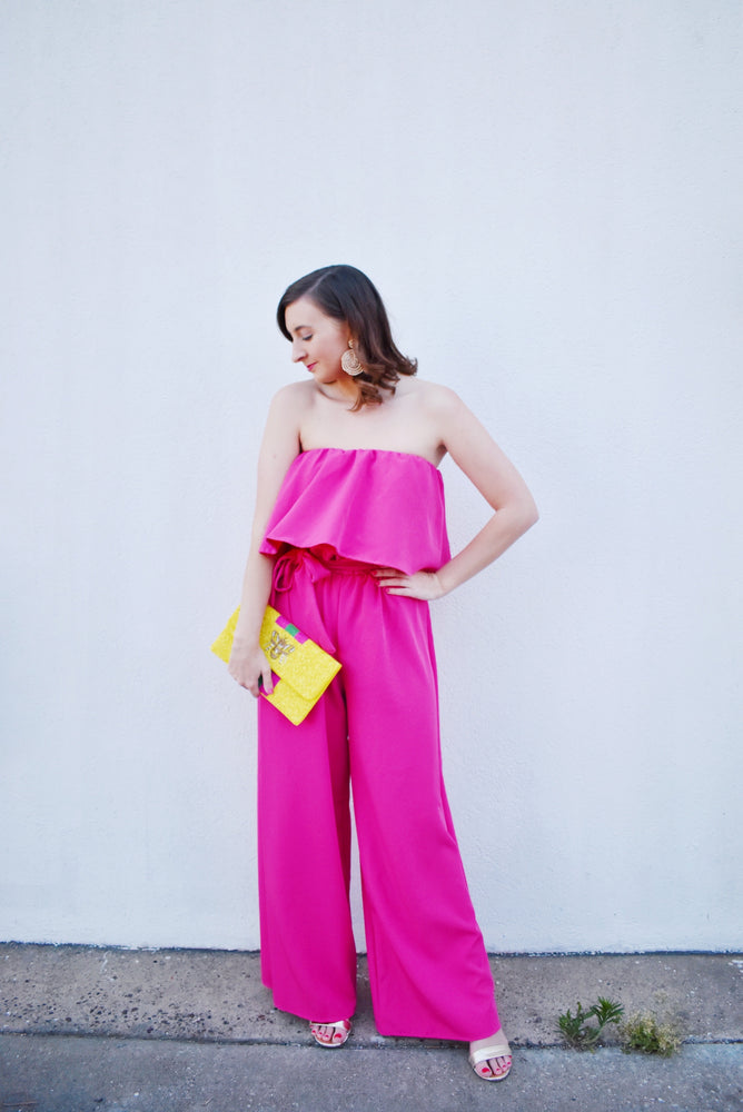 Barbie Girl Pink Jumpsuit