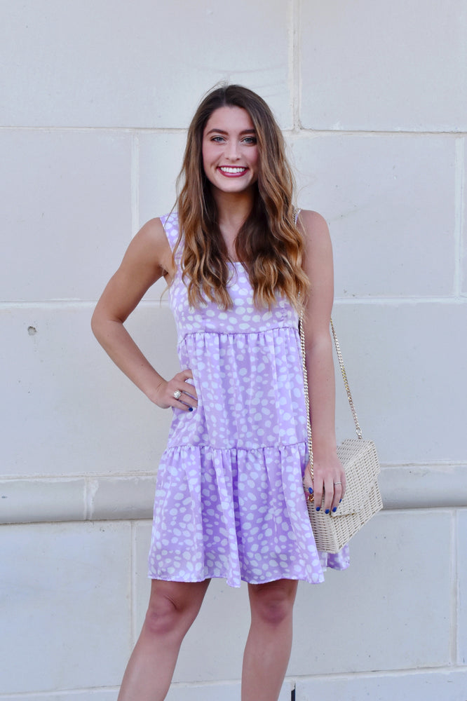 Lexi Lavender Animal Spot Dress