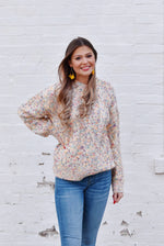Ivory Confetti Knit Sweater
