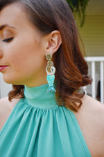 Mermaid Sequin Statement Earrings