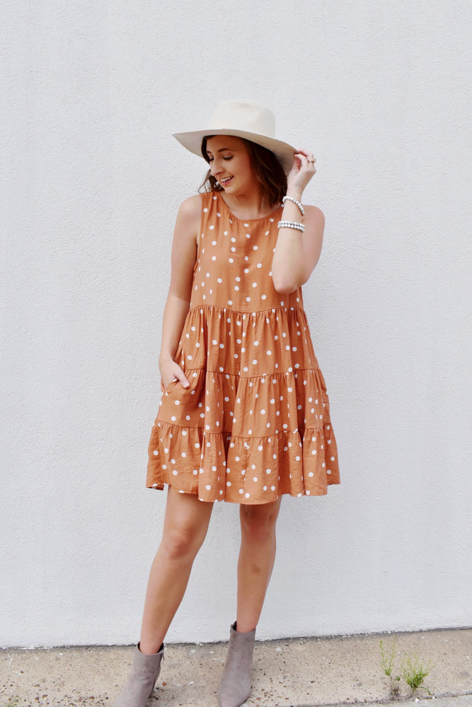 Polka Dot Tiered Babydoll Dress