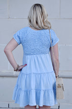 Baby Blues Tiered Dress