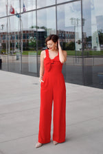 Red Bow Jumpsuit
