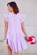 Pink Striped Babydoll Dress
